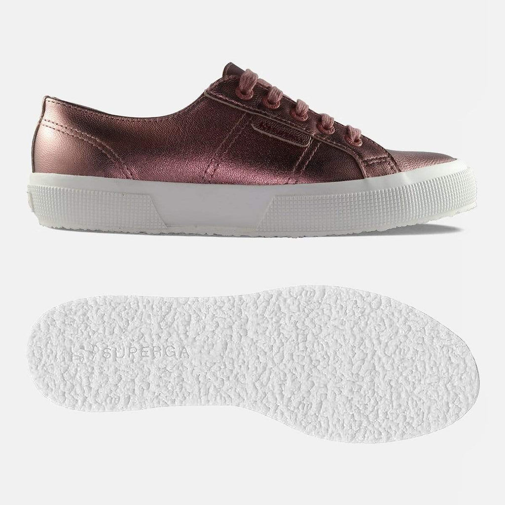 Superga Footwear 2750 Lea Nappa Metallic W Rose Burlwood