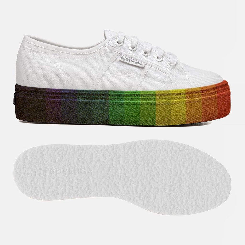 Superga Footwear 2790 Cot W Multicolour Glitter White Multicolour