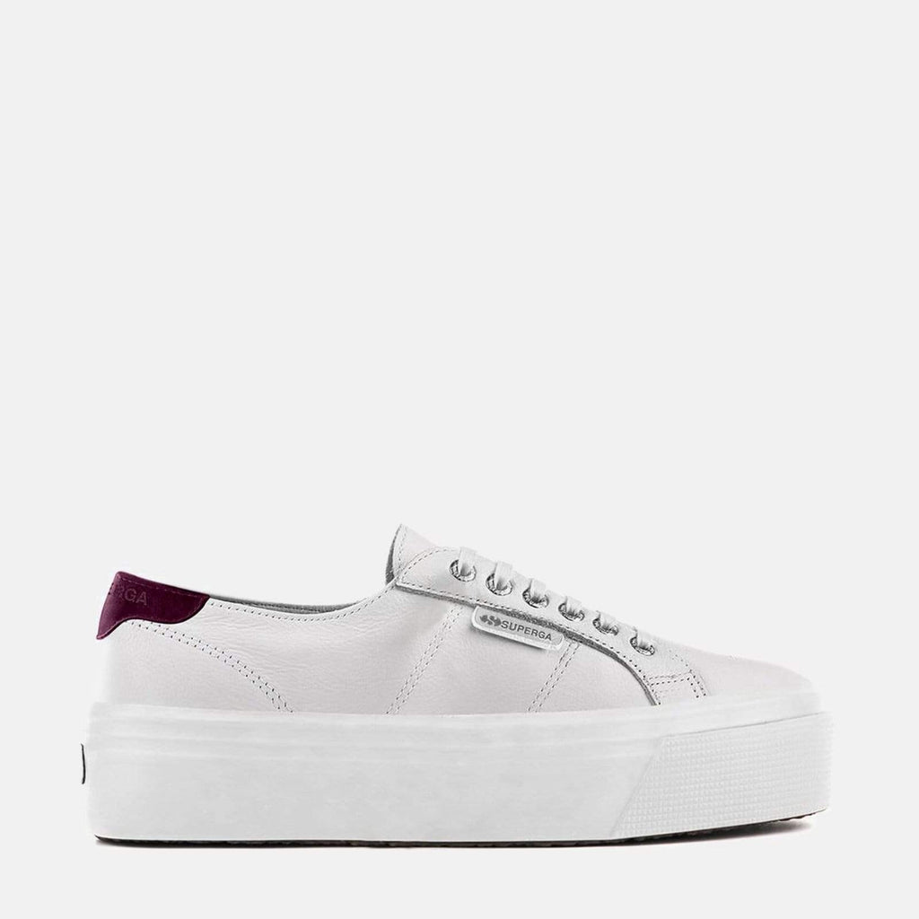 Superga Footwear 2790 Nappa Suede W White Red Cardinal