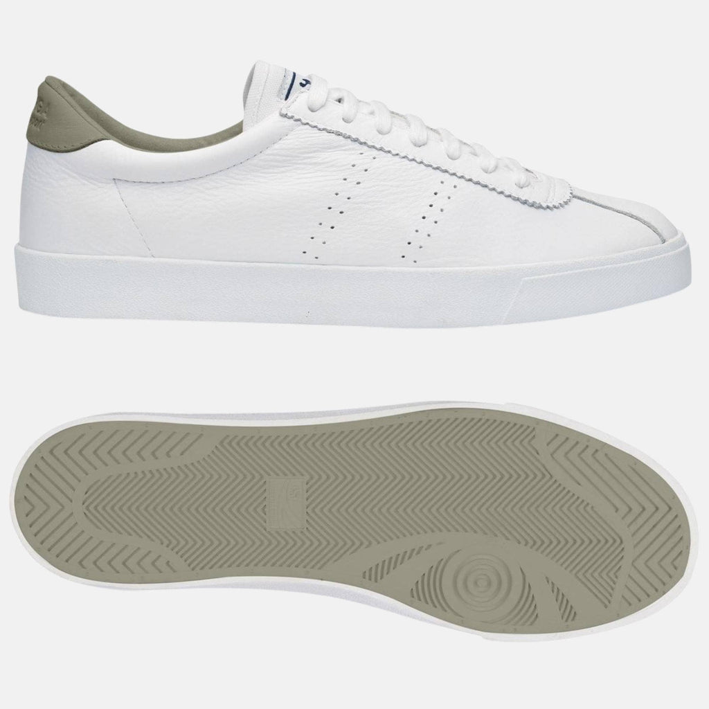 Superga Footwear 2843 Club S Comfort Leather  White-Agate Grey