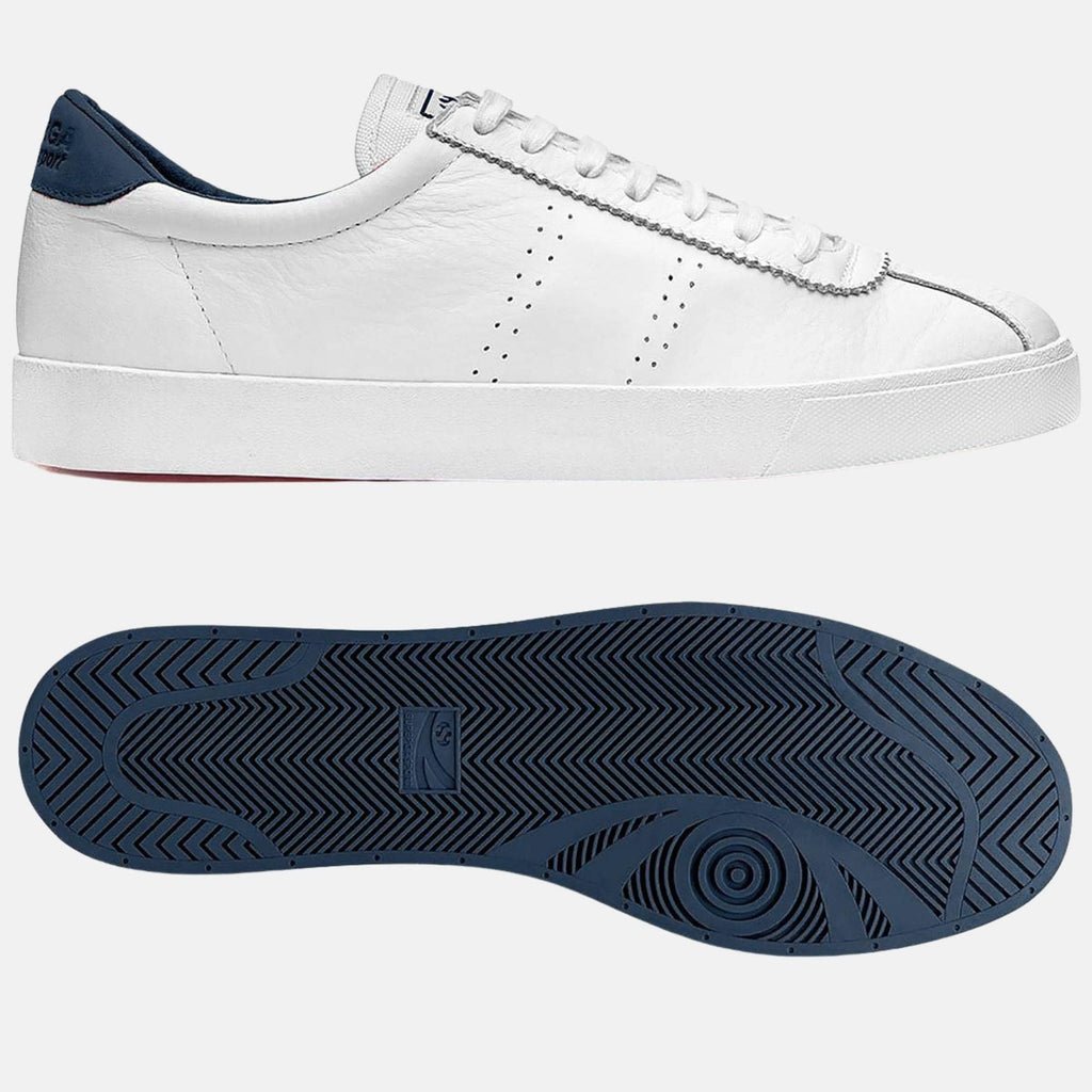 Superga Footwear 2843 Club S Comfort Leather  White Navy
