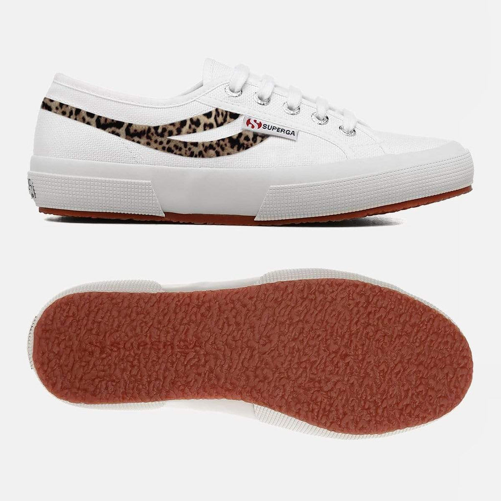 Superga Footwear 2953 Cot U Ponyhair White Cheetah