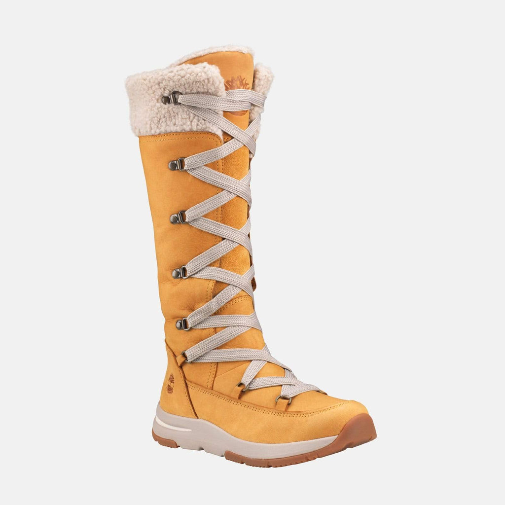 Timberland Footwear Mabel Town Waterproof Tall Mukluk CA1ZRU Wheat Nubuck