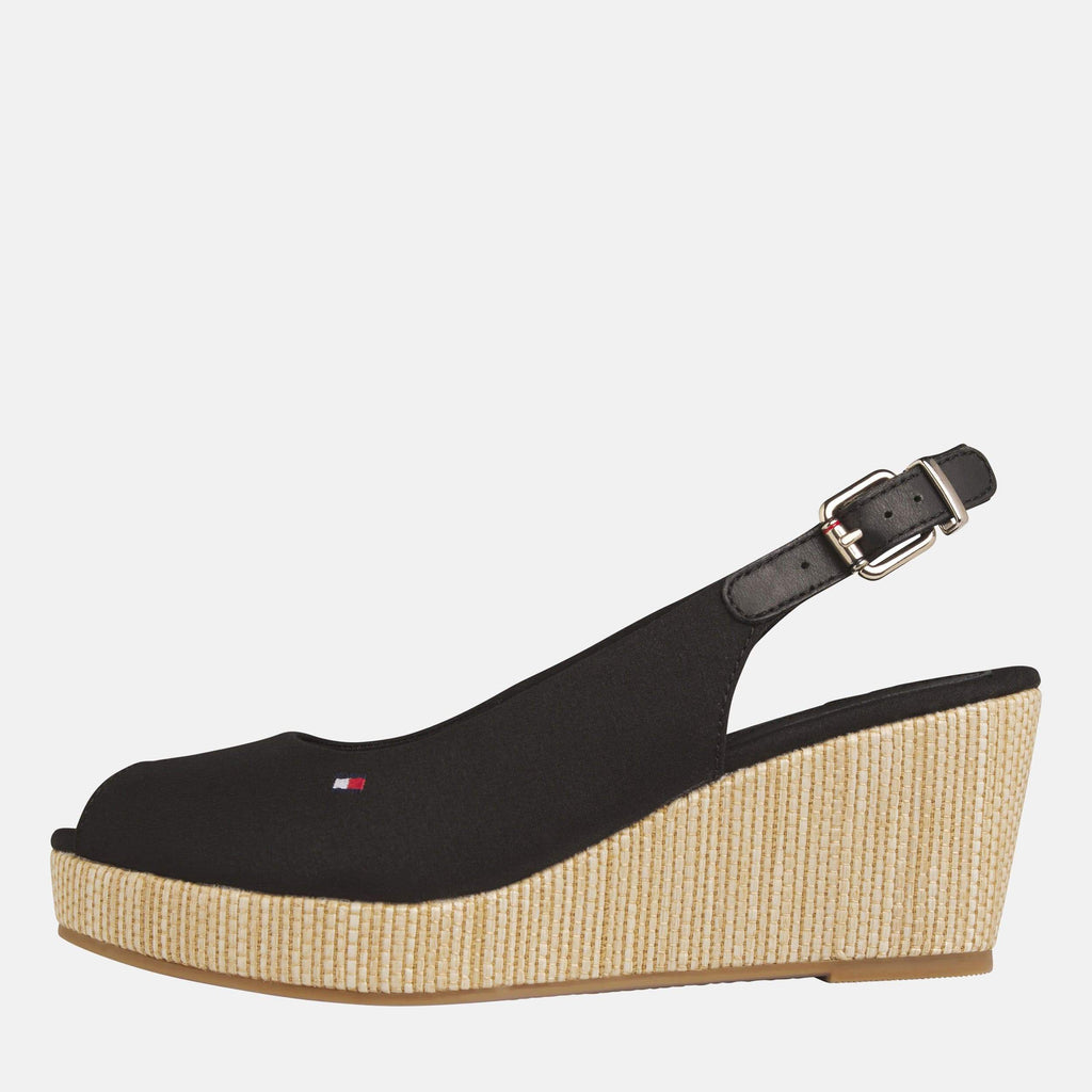 Tommy Hilfiger Footwear Elba Sling Back Wedge Black