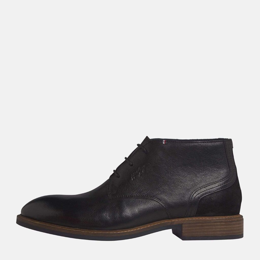 Tommy Hilfiger Footwear Elevated Leather Mix Boot Black