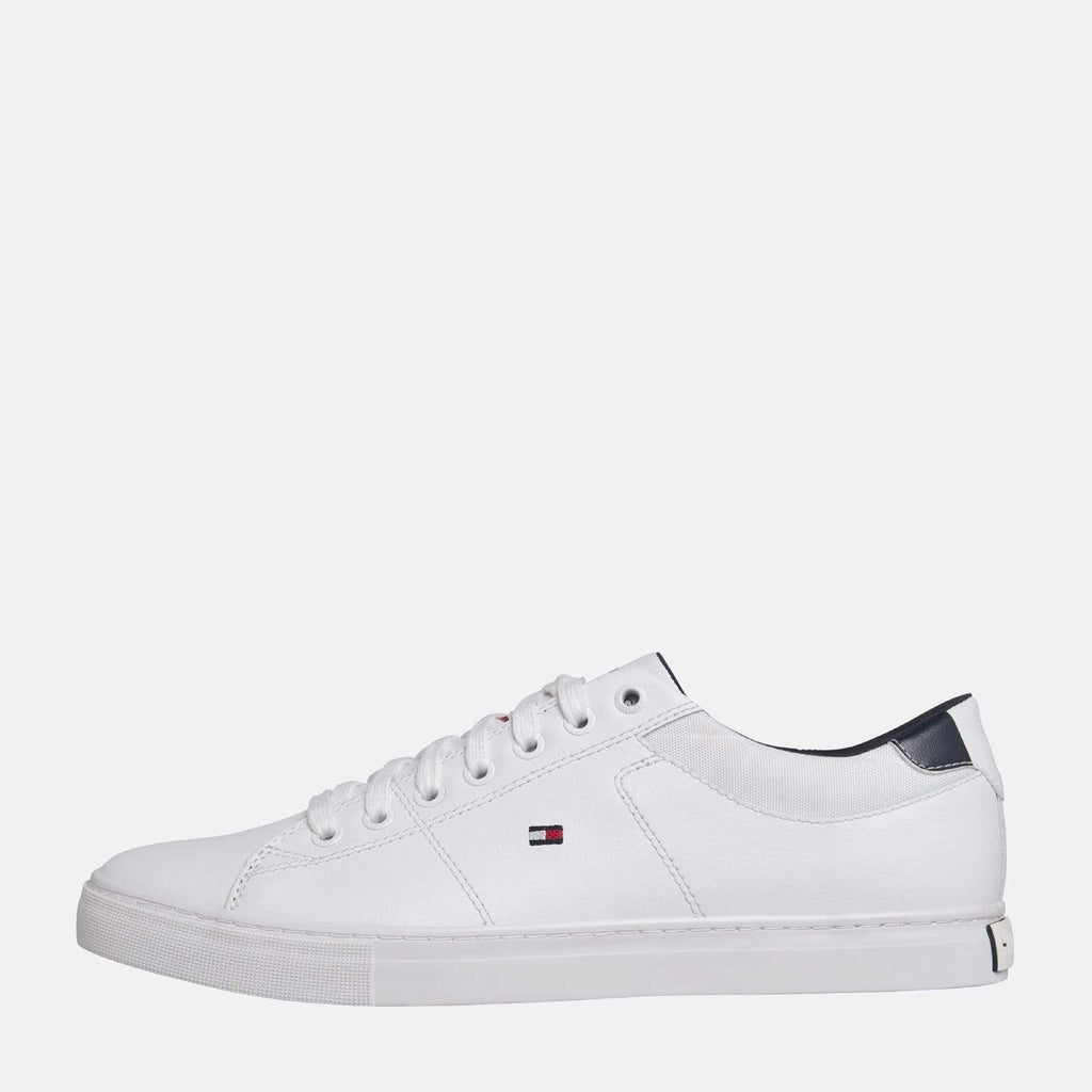 Tommy Hilfiger Footwear Essential Leather Collar Vulcanised White