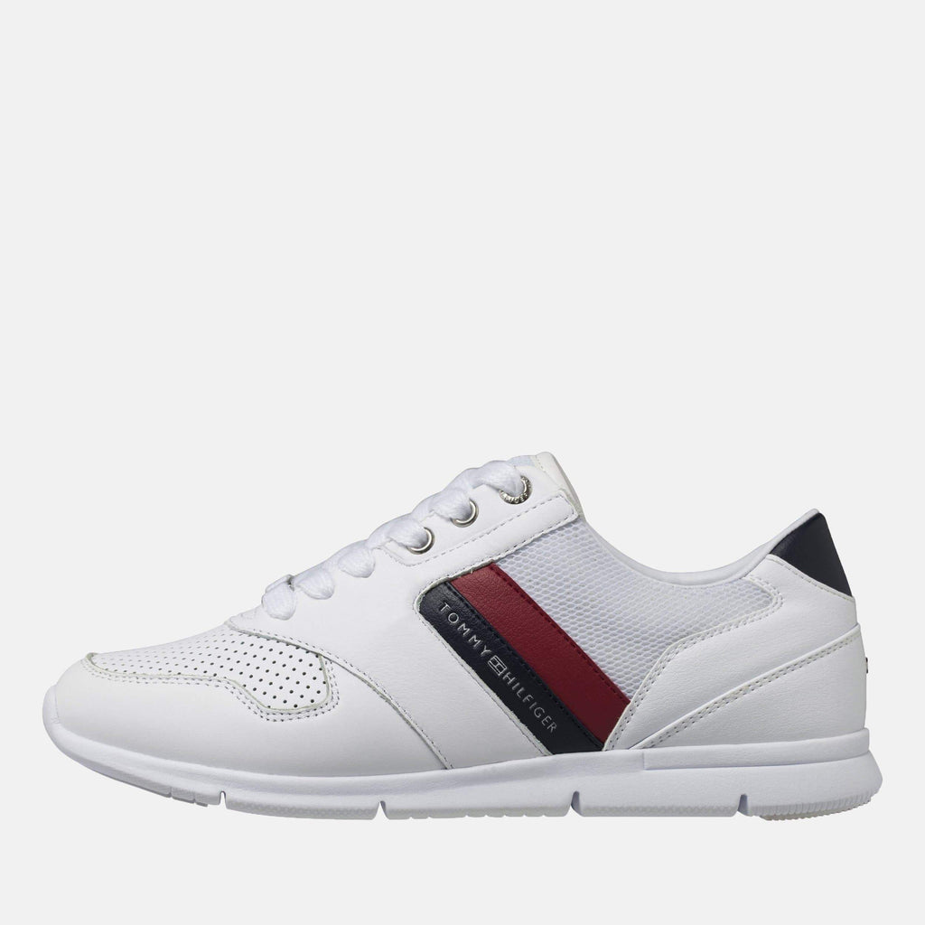 Tommy Hilfiger Footwear Lightweight Leather Sneaker Red White Blue