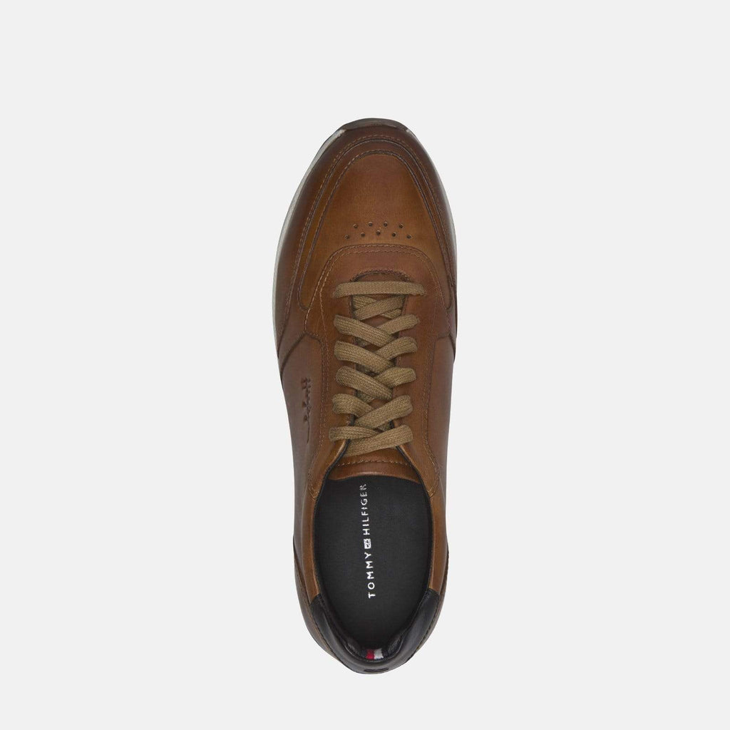 Tommy Hilfiger Footwear Premium Leather Runner Cognac