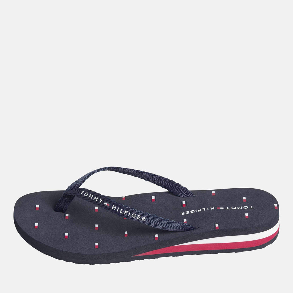 Tommy Hilfiger Footwear TH Flag Beach Sandal Desert Sky
