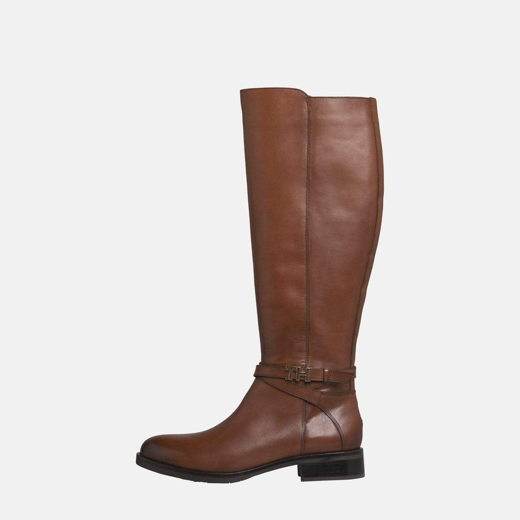 Tommy Hilfiger Footwear TH Hardware Leather Long Boot Gingerbread