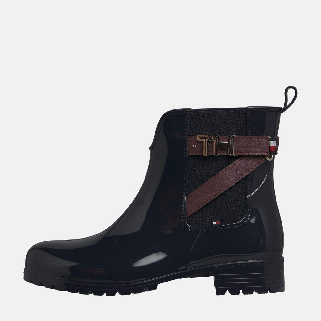 Tommy Hilfiger Footwear TH Hardware Rubber Bootie Midnight