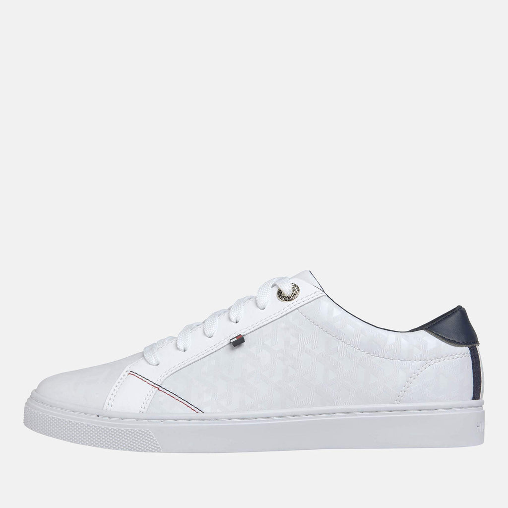 Tommy Hilfiger Footwear Tommy Jaquard Leather Sneaker White