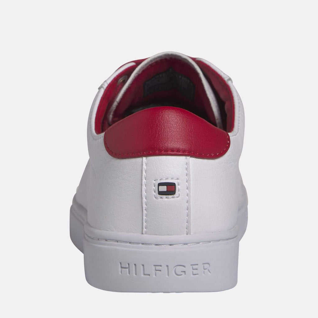Tommy Hilfiger Footwear Tommy Lace Up Casual Sneaker White/Barbados Cherry