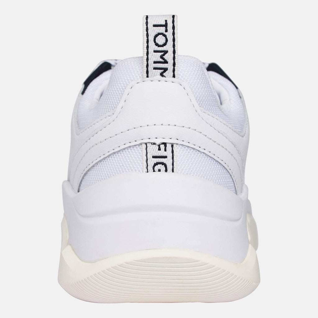 Tommy Hilfiger Footwear Women's Chunky Mixed Textile Trainer White