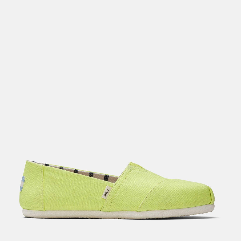 TOMS Footwear Alpargata Heritage Canvas Neon Yellow