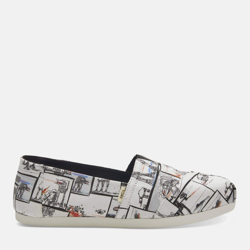 TOMS Footwear Alpargata Multi-Color White Star Wars