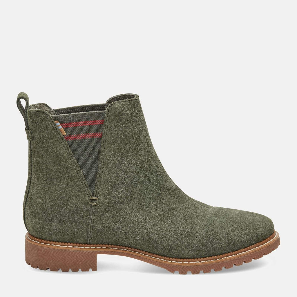 TOMS Footwear Cleo Dusty Olive Suede