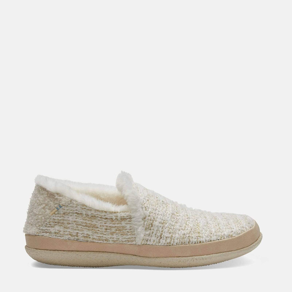 TOMS Footwear India White Metallic Boucle