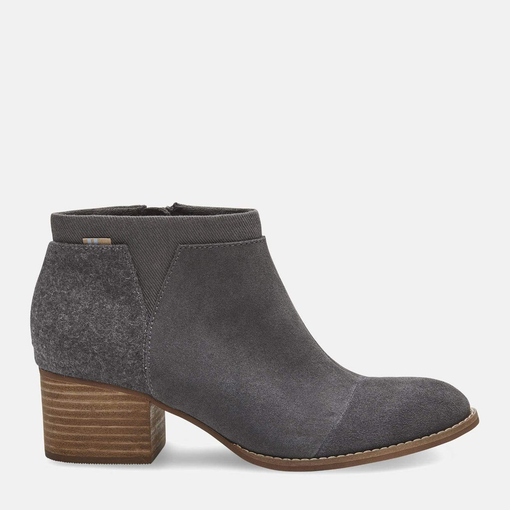 TOMS Footwear Loren Forged Iron Dark Grey Suede/Fleece