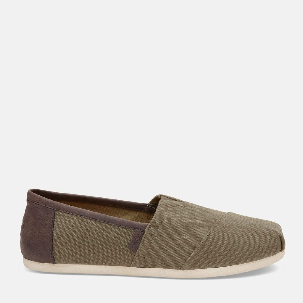 TOMS Footwear 6L / Olive Wash Canvas/Trim Men's Alpargata Espadrille Olive Wash Canvas/Trim
