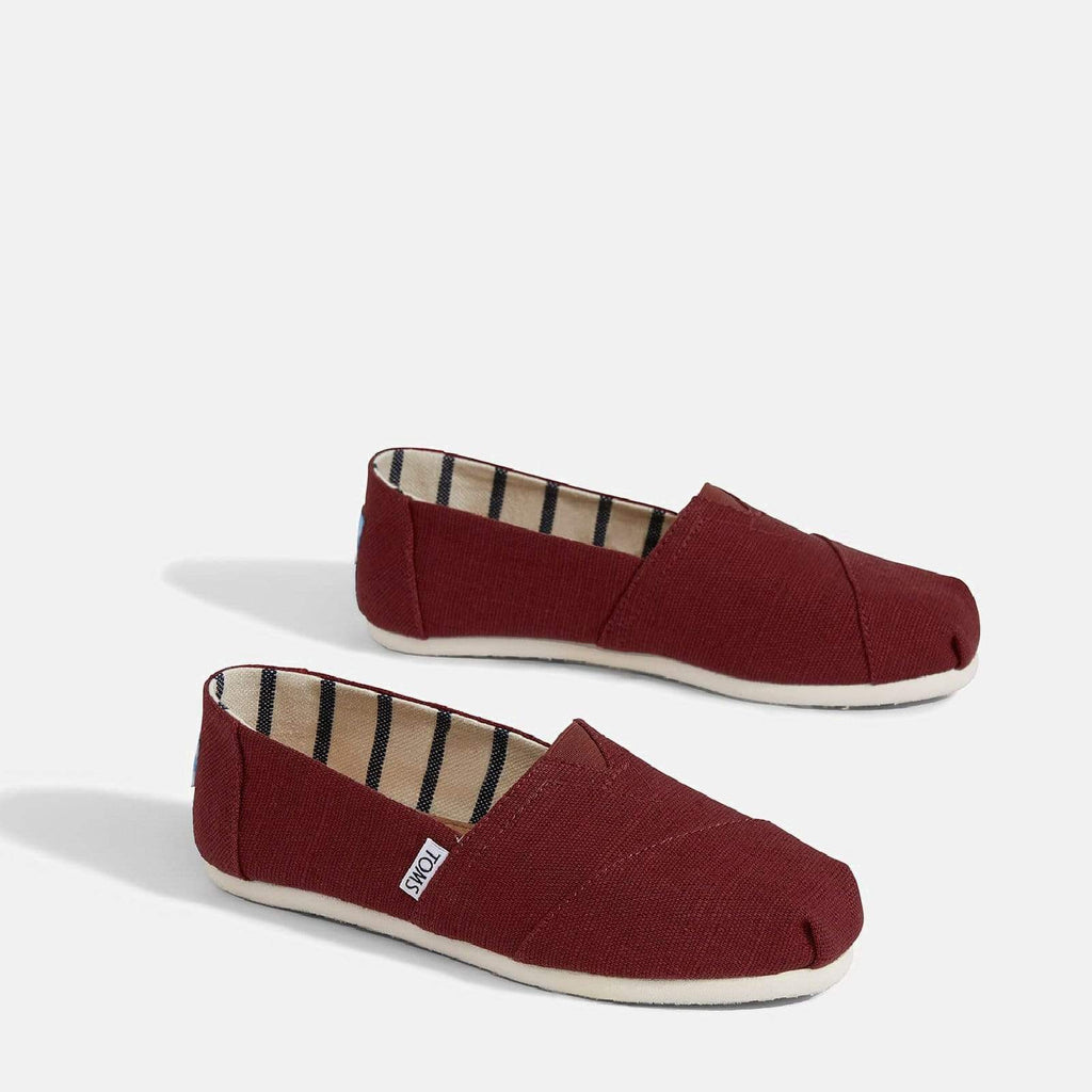 TOMS Footwear 3L / Black Cherry Heritage Canvas Women's Alpargata Espadrille Black Cherry Heritage Canvas