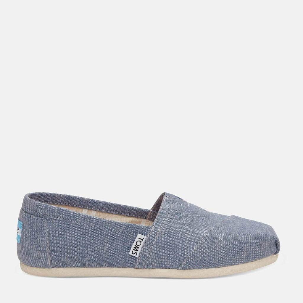 TOMS Footwear 3L / Blue Chambray Women's Alpargata Espadrille Blue Chambray