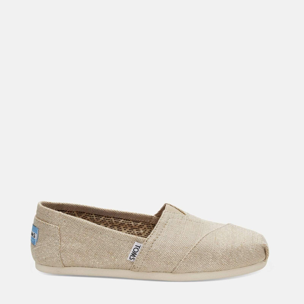 TOMS Footwear 3L / Natural Metallic Burlap Women's Alpargata Espadrille Natural Metallic Burlap