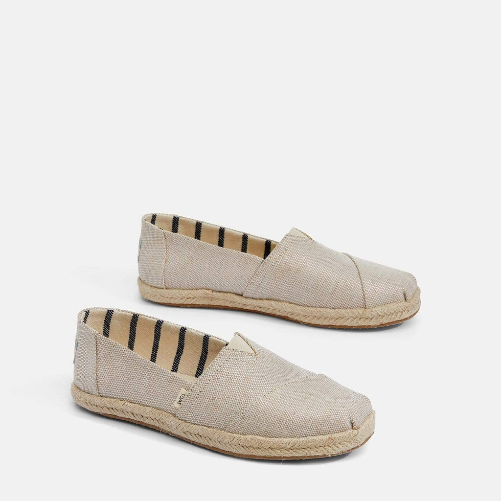 TOMS Footwear 3L / Natural Pearlised Metallic Women's Alpargata Espadrille Natural Pearlised Metallic