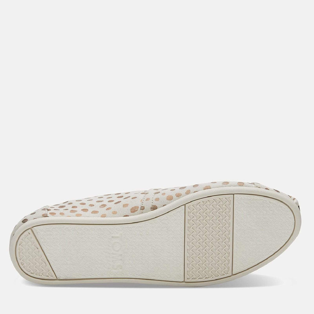TOMS Footwear 3L / Rose Gold/Natural Canvas Dots Women's Alpargata Espadrille Rose Gold/Natural Canvas Dots