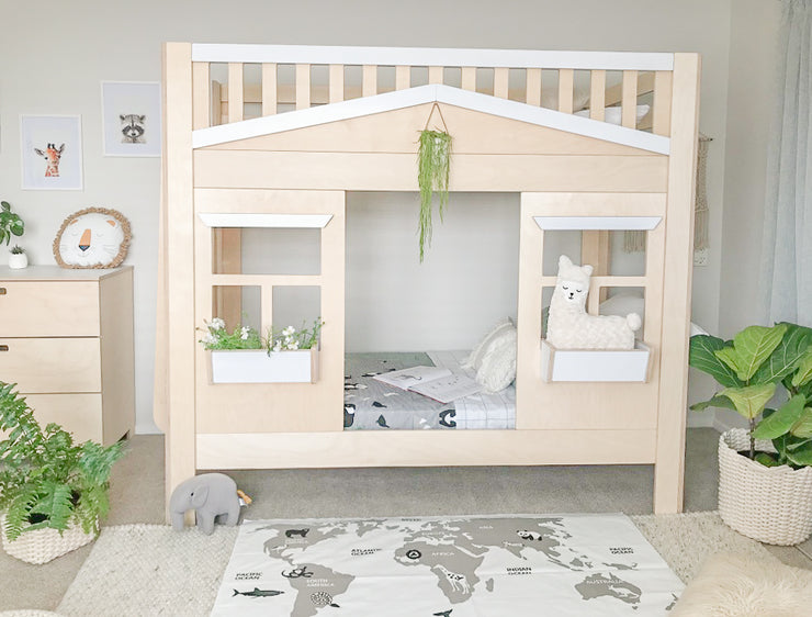 Cottage House Bunk Bed Magic Of Wood Nz