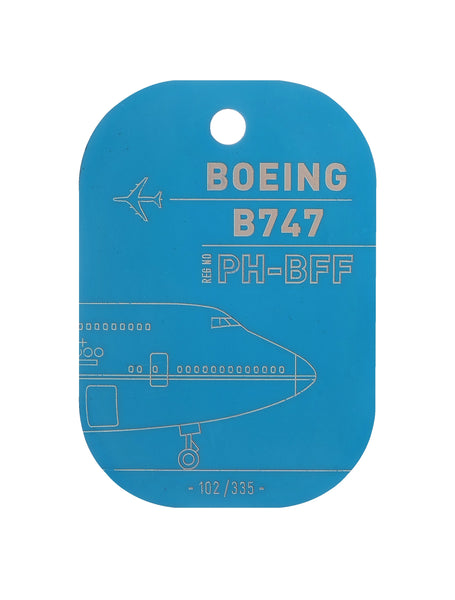 Aircraft Boeing 747-400 from KLM - Limited Edition of 335 Aircraft Skin Keychains - Created in France by Flight Inspiration®