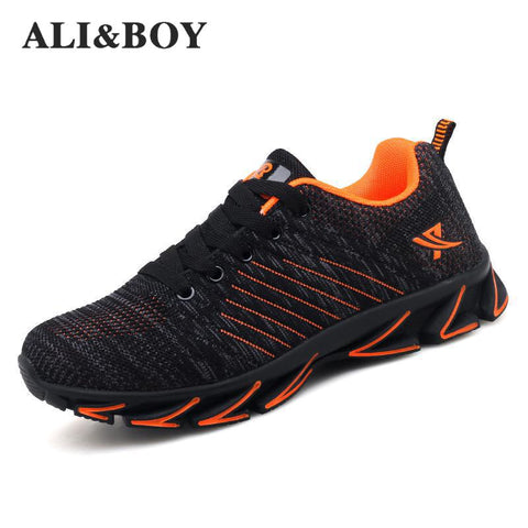 Image of Orange running shoes