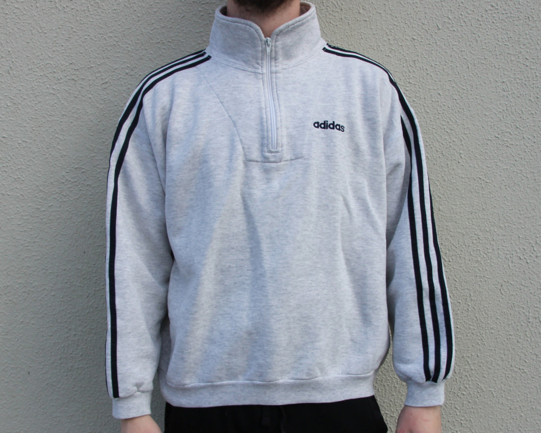 Vintage Adidas Half Zip Sweatshirt Size Men's Medium