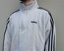 Load image into Gallery viewer, Vintage Adidas Half Zip Sweatshirt Size Men's Medium