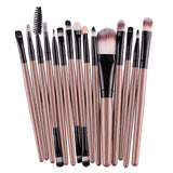6/15pcs/set Makeup brushes Professional Beauty Eyebrow Blusher Foundation Cosmetic Make up brush set Maquiagem