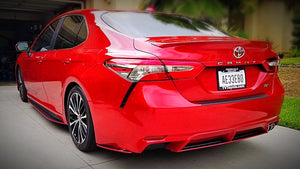 2018+ UP Toyota Camry Carbonfiber Rear Side Skirts & Diffuser