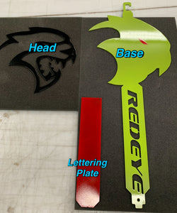 3D Hellcat Red Eye Hood Prop & Garage Art