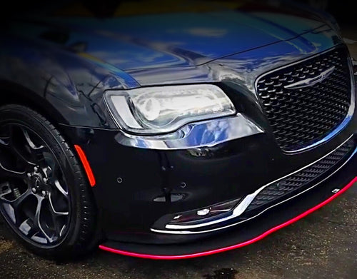2012+ UP Chrysler 300 Carbonfiber V1 Front Splitter