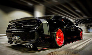 2012+ UP Dodge Challenger V2 Aluminum Rear Side Skirts