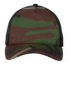 Load image into Gallery viewer, New Era Camo Hook & Loop Trucker Snapback