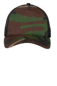 New Era Camo Hook & Loop Trucker Snapback