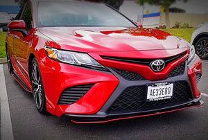 2018+ UP Toyota Camry Carbonfiber Front Splitter Extension