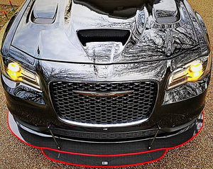 2012+ Up Chrysler 300 2 & 3 Layer Carbonfiber Splitter