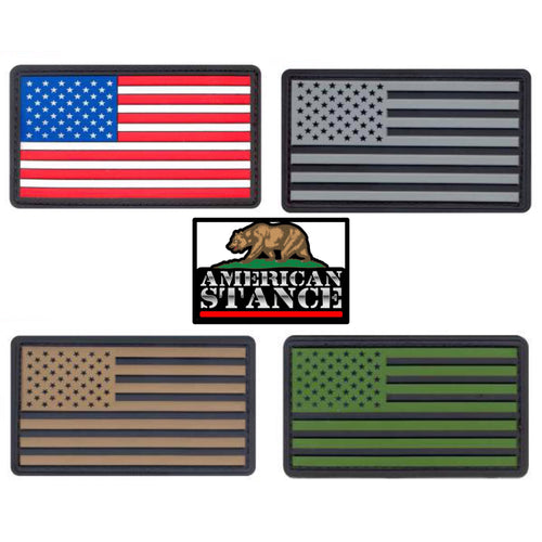 US Flag PVC Hook & Loop Patches