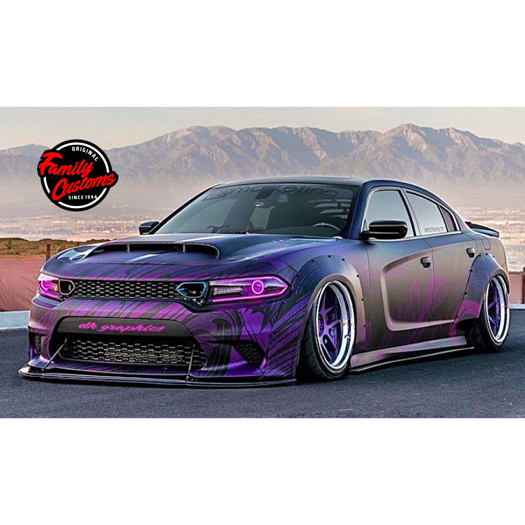 2012+ UP Dodge Charger V3 Carbonfiber 5 Piece Bodykit