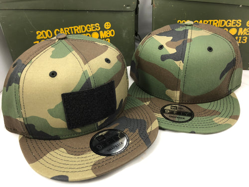 New Era Camo Hook & Loop Flatbill Snapback