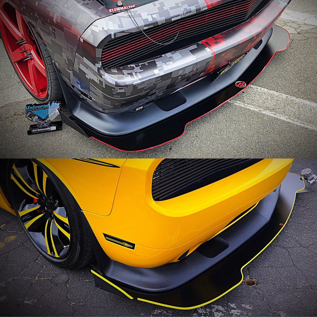 2012+ UP Dodge Challenger V2 Aluminum Front Splitter