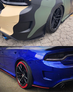 2012+ UP Dodge Charger Carbonfiber Rear Side Skirts