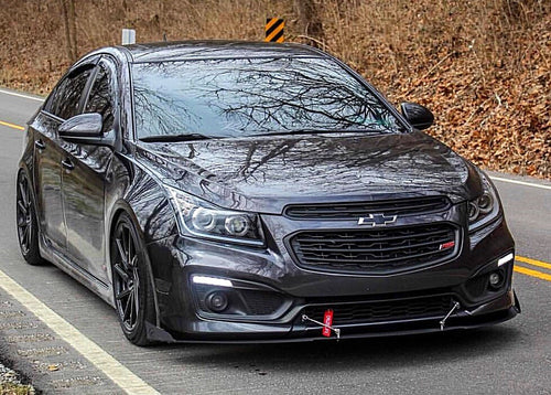2011-12+ UP Chevy Cruze V2 Aluminum Front Splitter