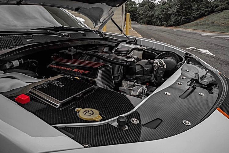 2015+ Up Dodge Charger Carbonfiber Radiator Shroud